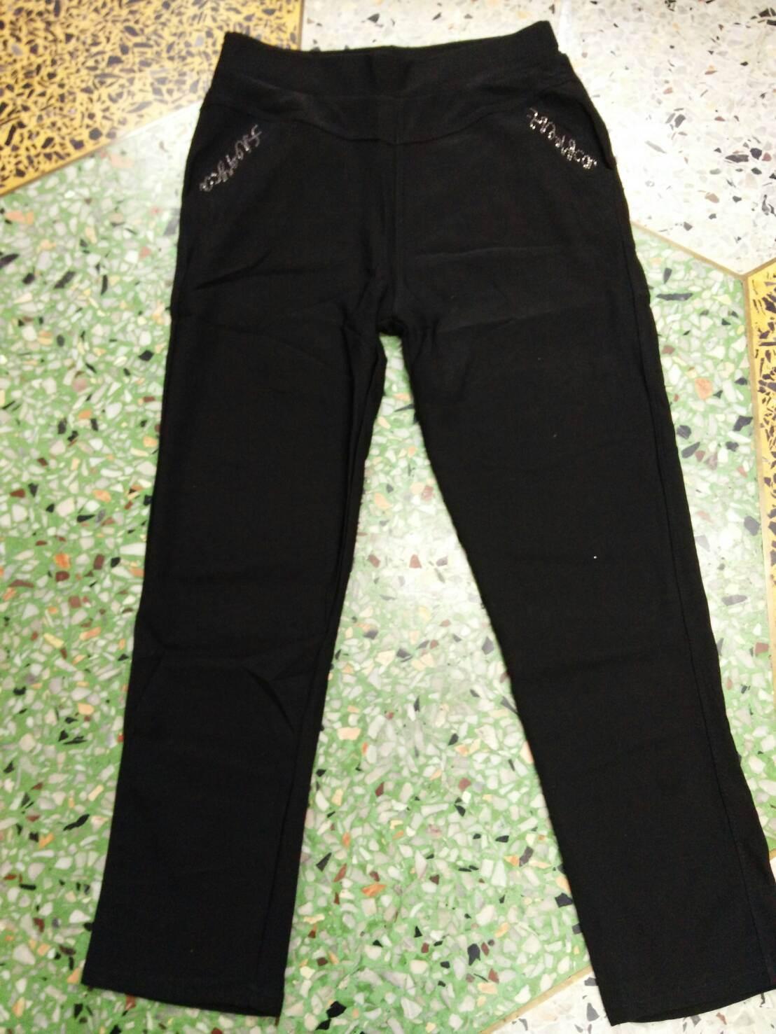 กางเกงผ้าเกาหลีขายาวเป๋าเพชร5xl เอว28