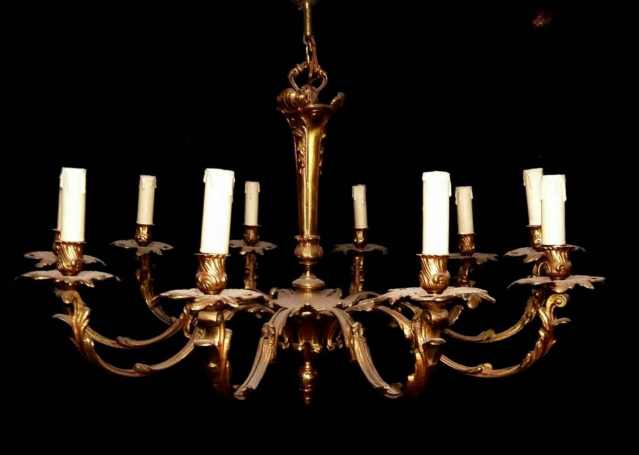 โคมไฟโบราณเนื้อทองสำริด  งานอิตาลี