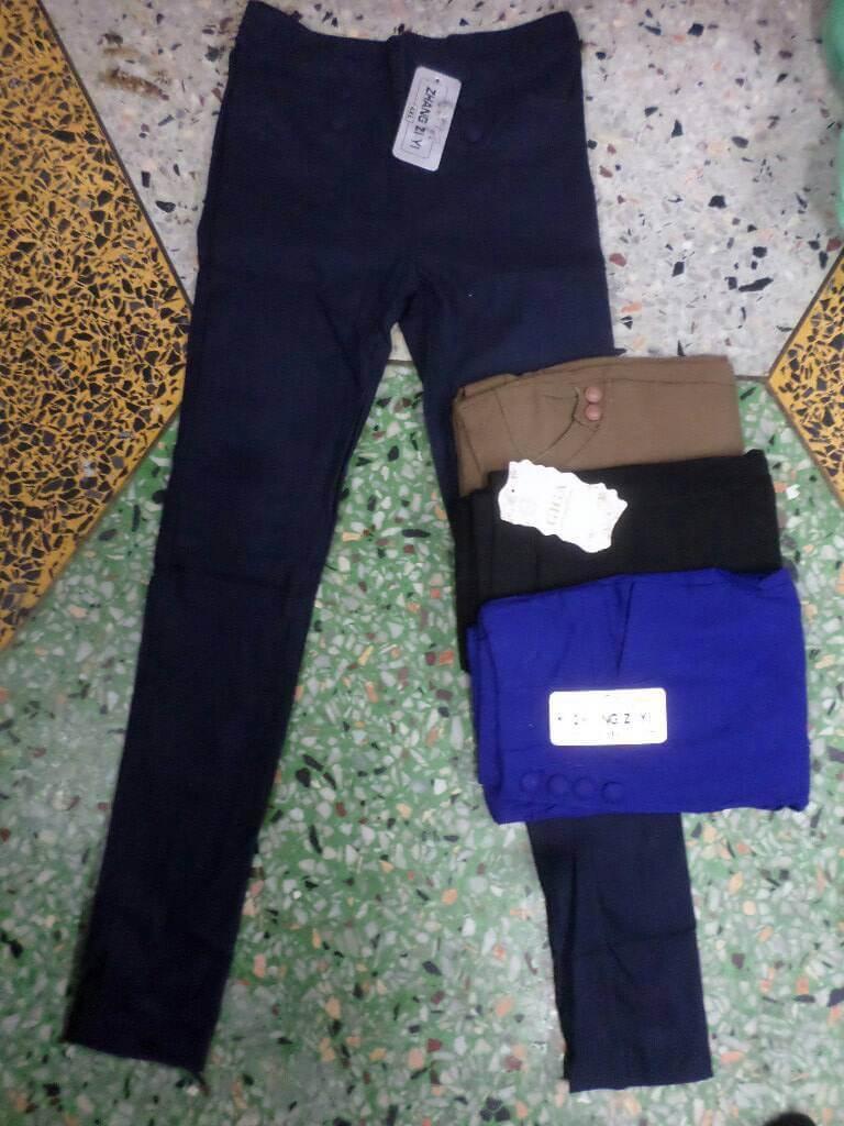 กางเกงสกินนี่ขายาวผ้าลาย2 4XL