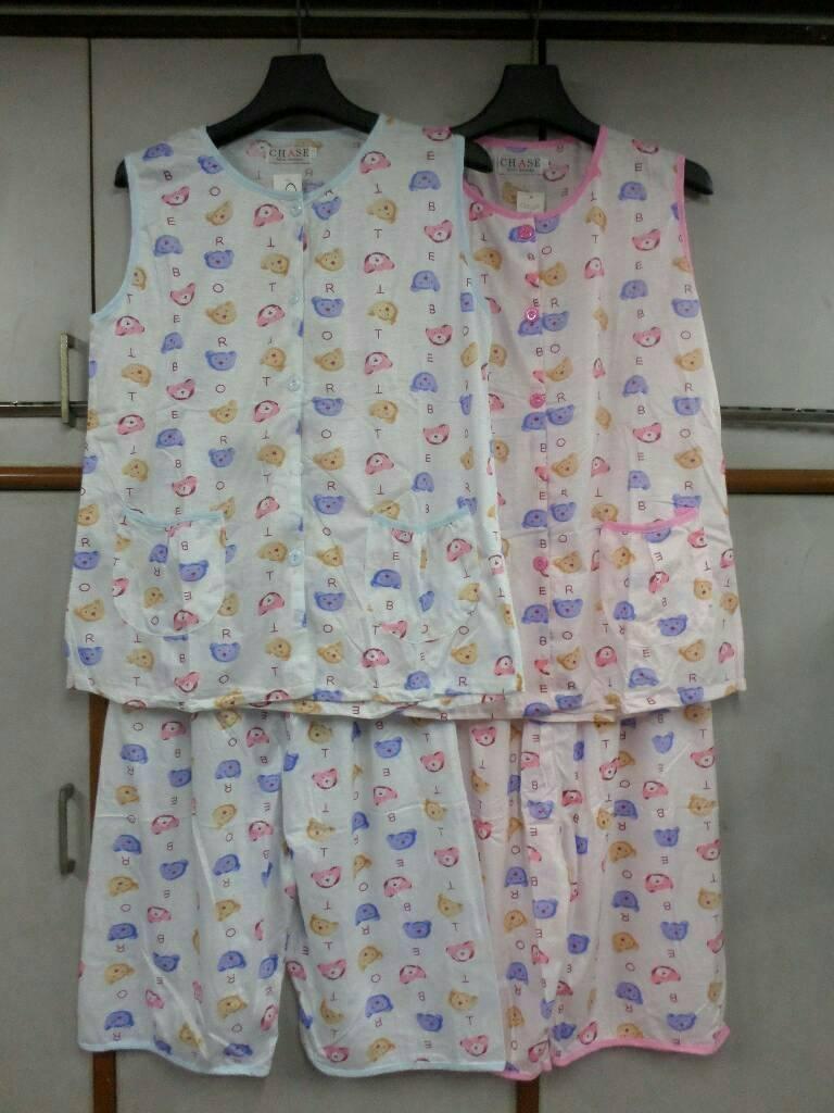 ชุดนอน2ชิ้นเสื้อกล้าม+กางเกง ราคาส่งชุดละ70บาท