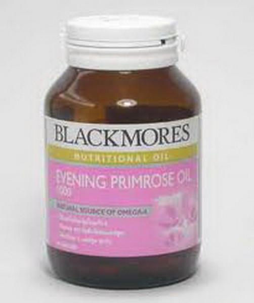 BLACKMORES EVENING PRIMROSE OIL 1000 mg ขนาด 60 เม็ดบรรเทาอาการก่อนมีประจำเดือน และปรับสมดุลฮอร์โมน ในผู้หญิงวัยเจริญพันธ์